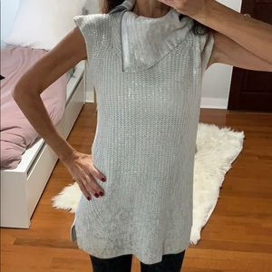 White and silver trouve long shirt